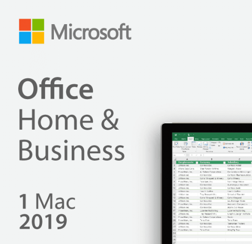 Microsoft Office 2019 Home & Business - License For Mac