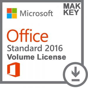 Microsoft Office Standard 2016 (50 PC Activations) MAK License Key