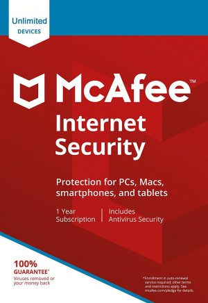 McAfee Internet Security unlimited1 year