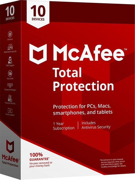McAfee Total Protection 2019 - Unlimited Devices 1 Year - Global Key