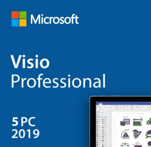 Visio Professional 2019 License Product Key 5 Users