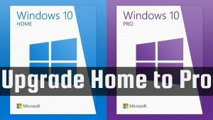 Windows 10 Home to Windows 10 Pro Upgrade Key Retail