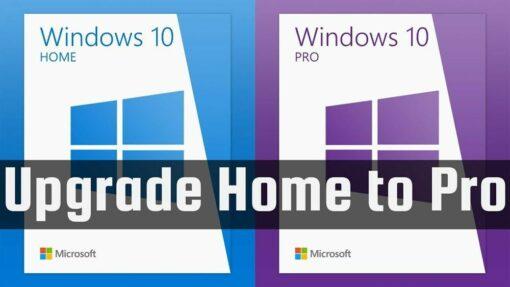 Windows 10 Home to Windows 10 Pro Upgrade Key Retail