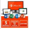 Microsoft Office 365 Pro Plus Account 5 PC Lifetime