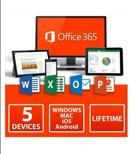 Microsoft Office 365 Pro Plus Account 5 PC Lifetime