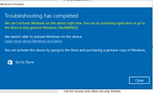 How to fix Windows 10 Activation Error 0xC0000022