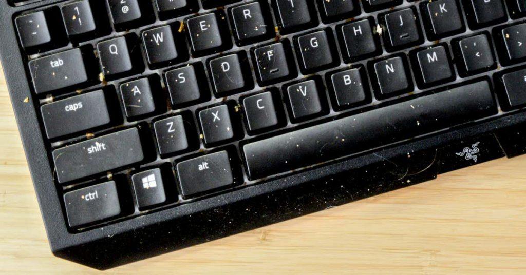 dirty keyboard keys
