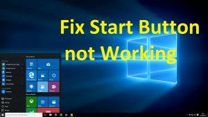How to fix Windows 10 start button not working