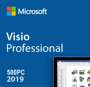 Visio Professional 2019 License Product Key 500 Users