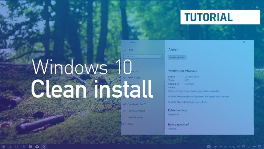 Windows 10 Pro/Home – Clean Install Guide